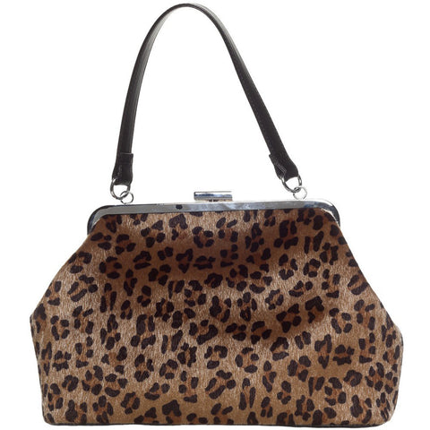 Sourpuss Betsy Purse Leopard Animal Print Retro Rockabilly Pinup