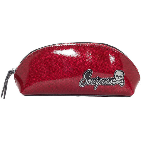 Sourpuss Floozy Makeup Bag Red Cosmetic Retro Vintage Rockabilly Pin Up