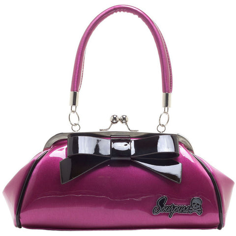 Sourpuss Floozy Purse Pink/Black Retro Vintage Rockabilly Pin Up