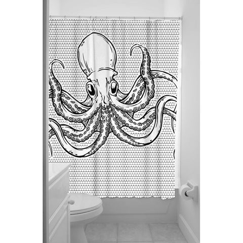 Sourpuss Octopus Nautical Tattoo Shower Curtain