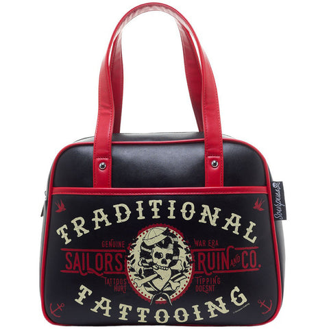 Sourpuss Sailor's Ruin Bowler Purse Black Traditional Tattooing Tattoo