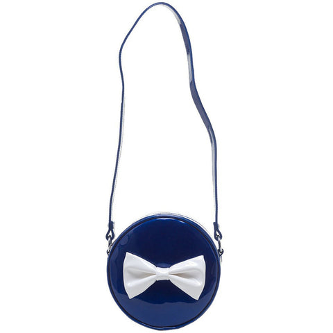 Sourpuss Ship Shape Purse Navy Retro Vintage Rockabilly Pin Up Bow Handbag