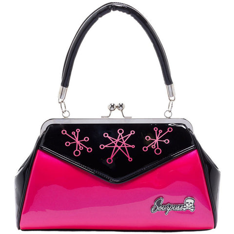 Sourpuss Sputnik Backseat Baby Purse Pink Retro Vintage Rockabilly Pin Up