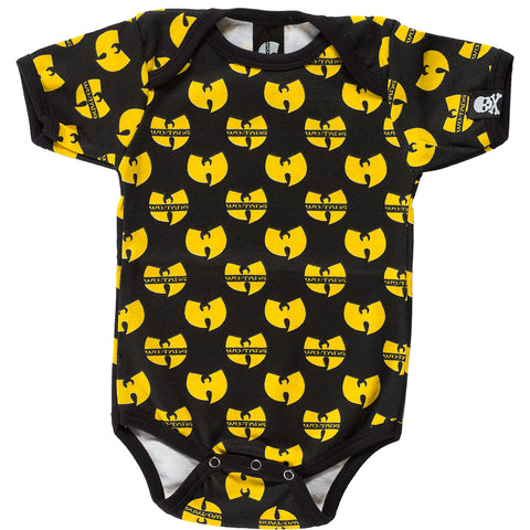 Kid's Sourpuss Wu Tang One Piece Black/Yellow Hip Hop Rap Fan Wu Tang Clan