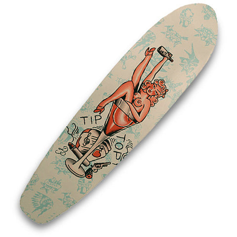 Tip Top Industries Man's Ruin Skateboard Deck Traditional Tattoo Art Pin Up