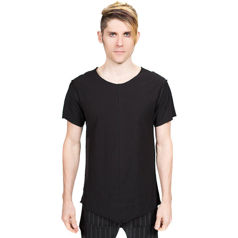 Unisex GhostCircus Apparel Raw Edge Long Black T-Shirt