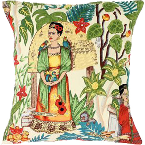 Hemet Frida Art Mexican Novelty Pillow Cover Green Shawl Latina