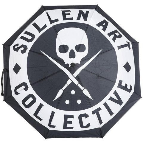Sullen Badge Travel Umbrella Black Skull Logo Tattoo Lifestyle Brand