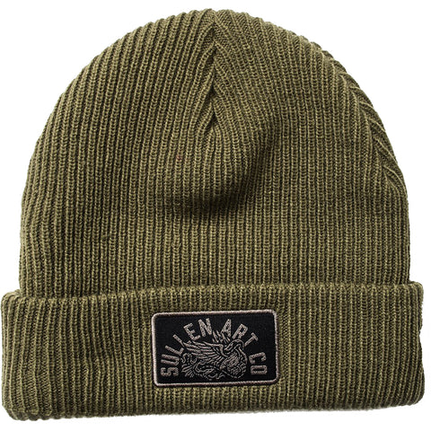 Sullen Stand Your Ground Beanie Olive Tattoo Art Lifestyle
