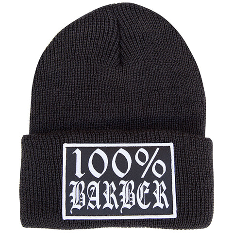 Tip Top Industries 100% Barber Beanie Black Barber Lifestyle Gear