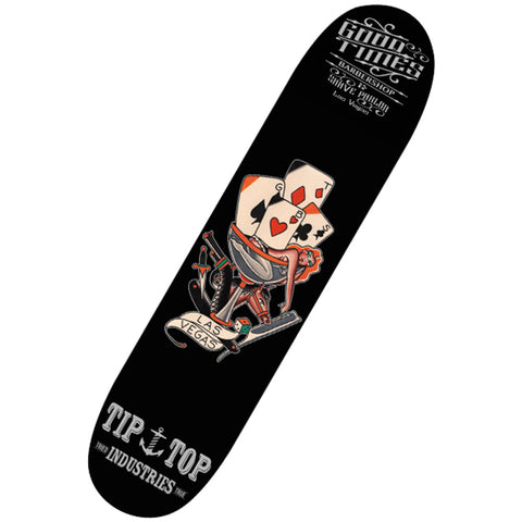 Tip Top Industries Good Times Skate Deck Black Traditional Tattoo Flash
