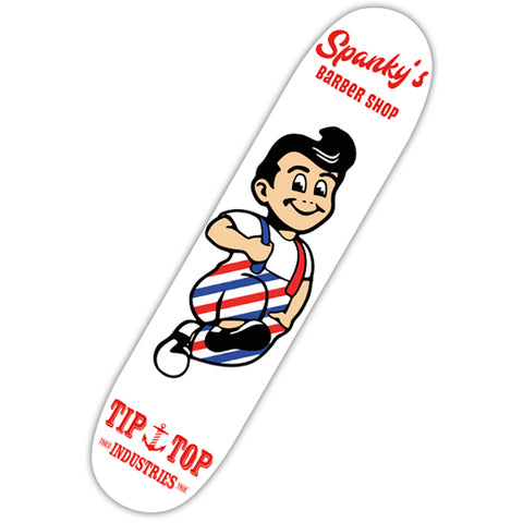 Tip Top Industries Spanky's Skate Deck White Traditional Tattoo Flash Barber
