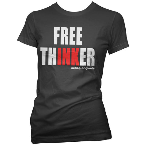 Women's Aesop Originals Free Thinker T-Shirt Tattoo Ink Inked Tattooed
