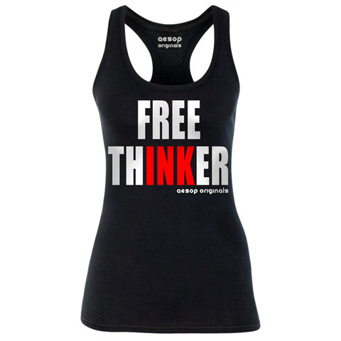 Women's Aesop Originals Free Thinker Tank Top Tattoo Ink Inked Tattooed