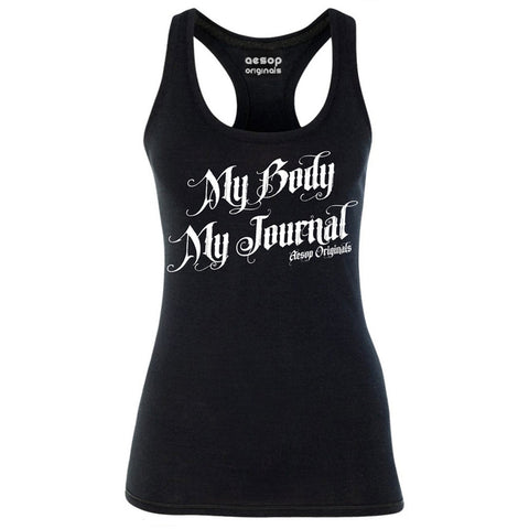 Women's Aesop Originals My Body My Journal Tank Top Ink Inked Tattoo Tattooed