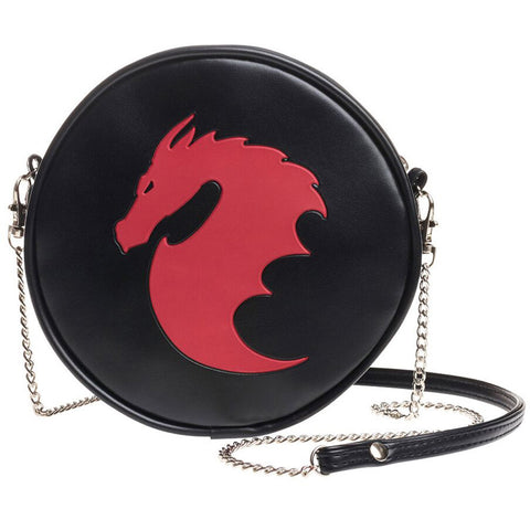 Alchemy of England Dragon Bag Black/Red Goth Gothic