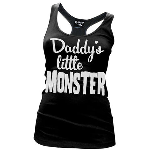 Women's Cartel Ink Daddy's Little Monster Racer Back Tank Top Punk Alternative