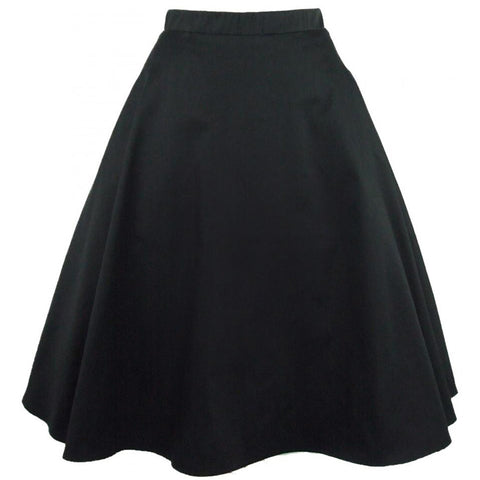 Women's Hemet Black Full Circle Skirt Retro Vintage Inspired Rockabilly Pin Up