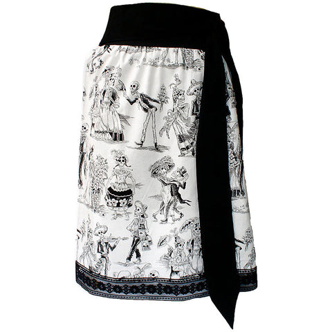 Women's Hemet Day of the Dead Rockabilly Pinup Inspired Skirt II Festive Latina