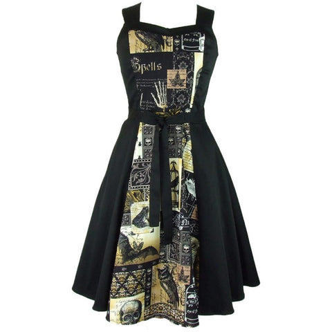 Women's Hemet Edgar Allen Poe Inspired Full Circle Dress Retro Rockabilly