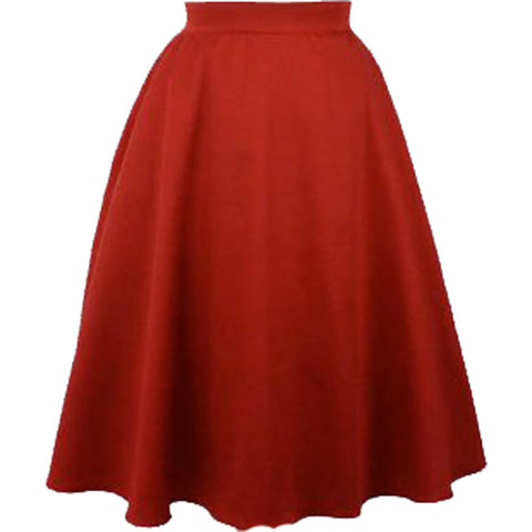 Hemet Full Circle Skirt Rustic Red Rockabilly Retro Vintage Pin Up Swing