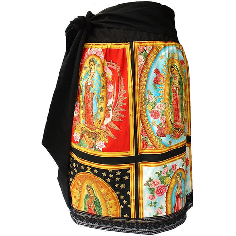 Women's Hemet Guadalupe Retro Inspired Pinup Skirt Virgin Mary Latina Rockabilly