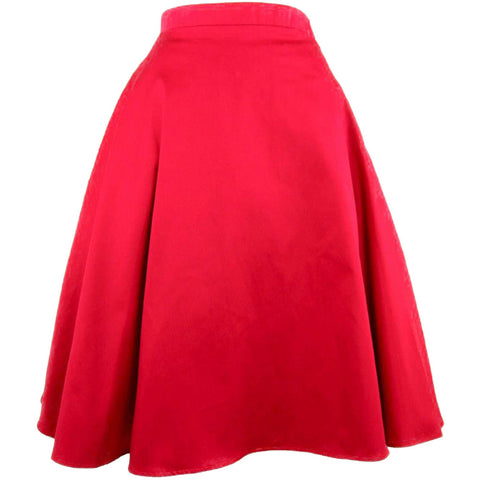 Women's Hemet Red Full Circle Skirt Retro Vintage Inspired Rockabilly Pin Up