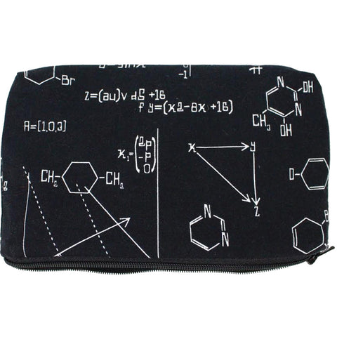 Women's Hemet Scientific Wallet/Makeup Bag Black Chemistry Math Equations