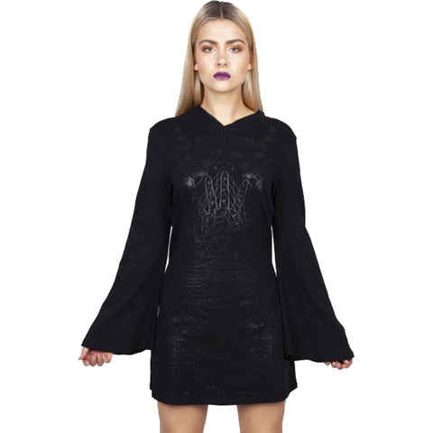 Jawbreaker It's Fate Tunic Dress Goth Occult Witch Bell Sleeve