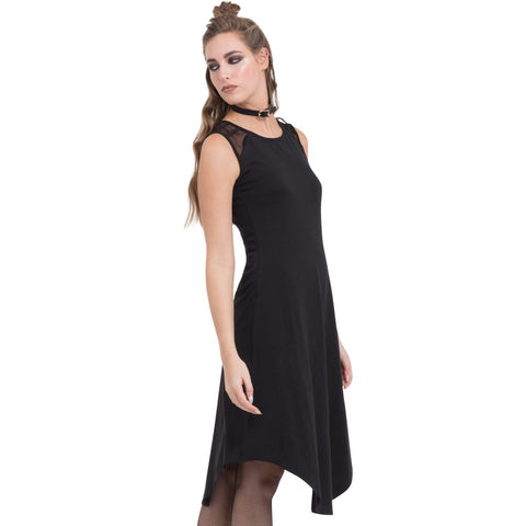 Jawbreaker Lace And Straps Dress Black Goth