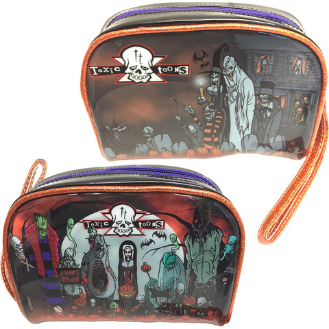 Kreepsville Toxic Toons Halloween Make Up Bag Black