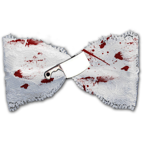 Women's Se7en Deadly Bloody Cleaver Hairbow White