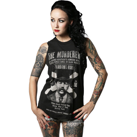 Women's Se7en Deadly H.H. Holmes Murderer Muscle T-Shirt Serial Killer Horror