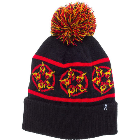 Sourpuss Hail Pizza Knit Hat Black