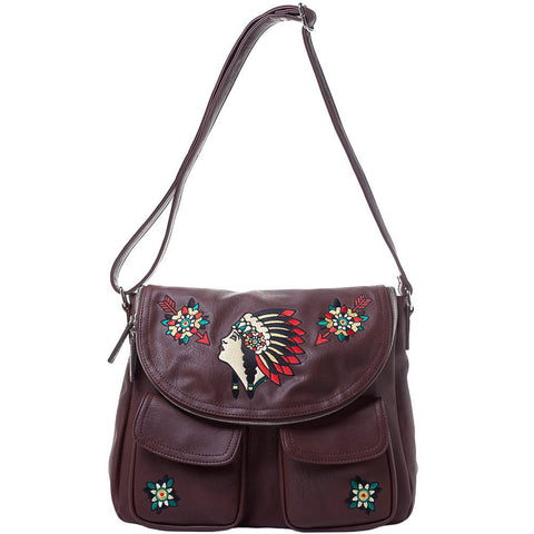 Women's Sourpuss Indian Nomad Purse Brown Native American