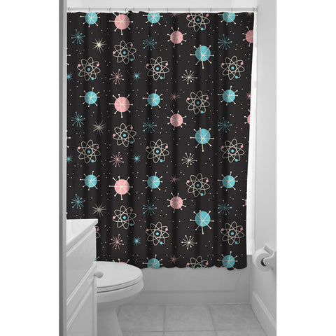Sourpuss Sputnik Shower Curtain Black