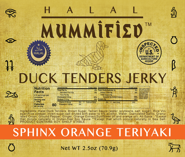 Duck Tenders Jerky Sphinx Orange Teriyaki 2.5oz