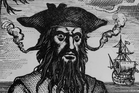"Pirate Edward ""Blackbeard"" Teach."
