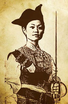 Madame Ching with Sword