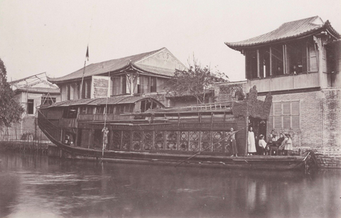 "Cantonese floating ""flower boat"" brothel."