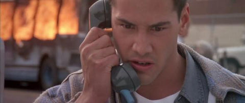 Keanu Reeves in Speed movie.