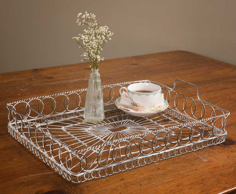 white wire tray