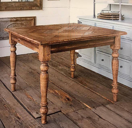 farmhouse square parquet table