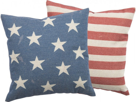 Set of Two American Flag Pillows / Patriotic Decor