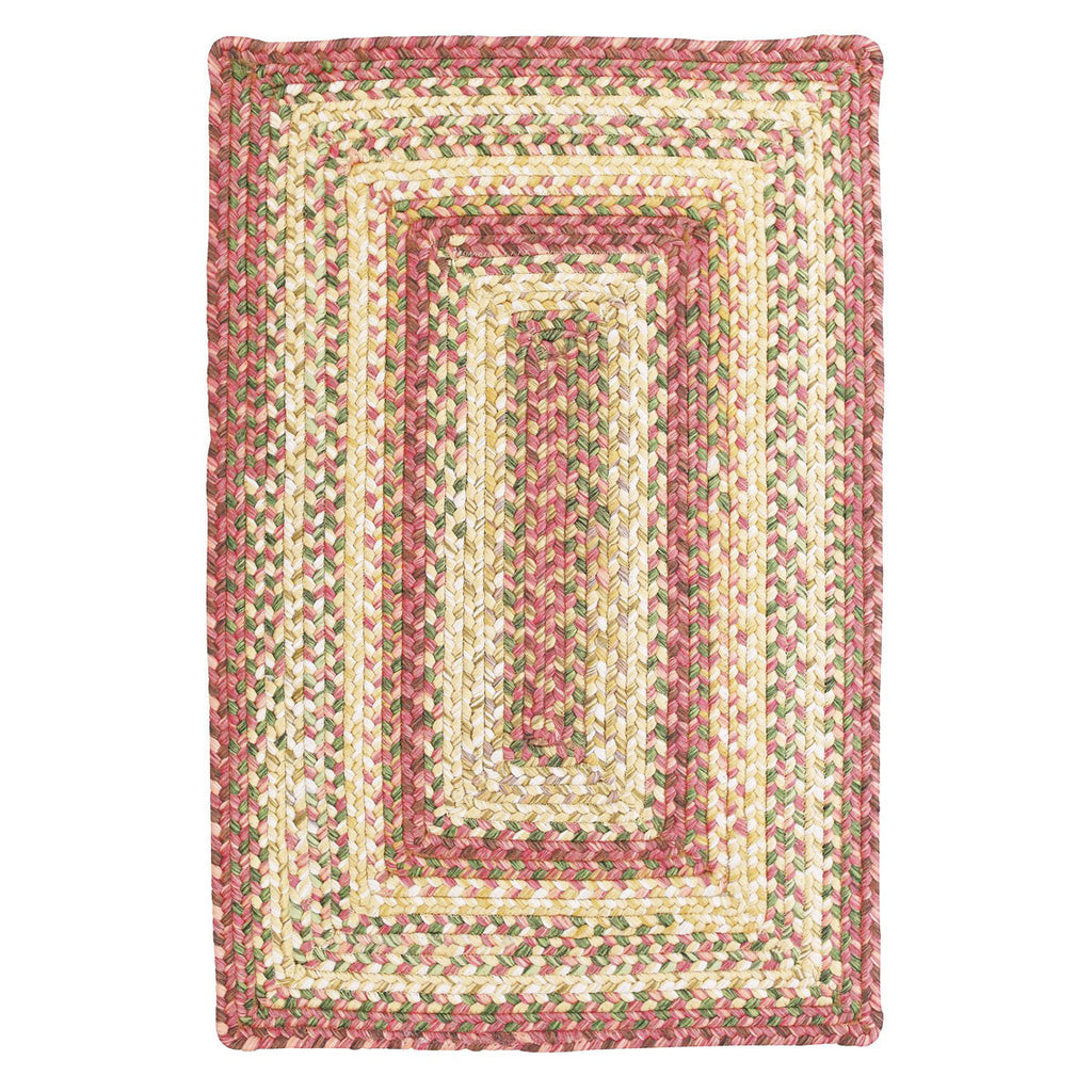 Barcelona braided rug in red and cream tones