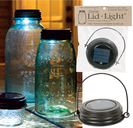 Mason Jar Hanging Solar Lid Light