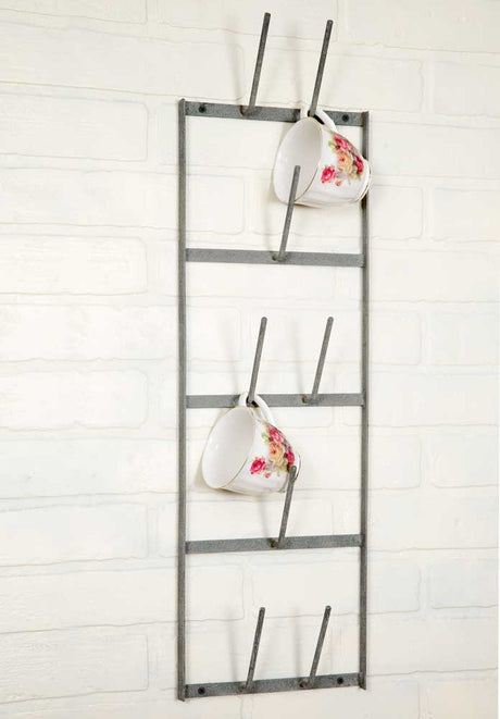 Narrow Wine Bottle Dryer Wall Rack / Metal Wall Hanging / Industrial Farmhouse