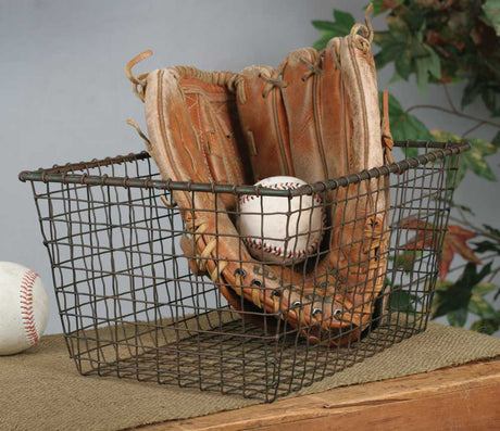 rectangular wire storage basket