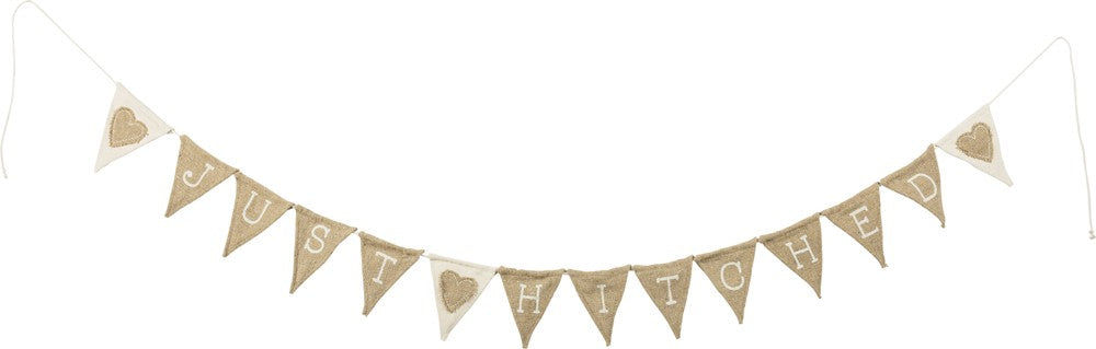 just hitched burlap wedding garland