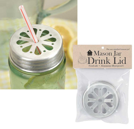 Mason Jar Straw Holder Lid